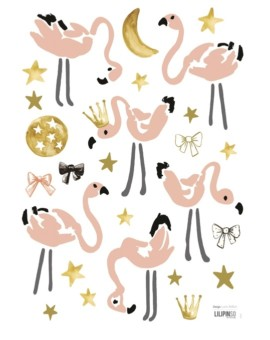 Flamingo wallstickers fra Lilipinso til 169,-