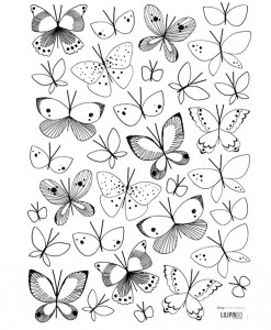 Sommerfugle wallstickers fra Lilipinso til 129,-