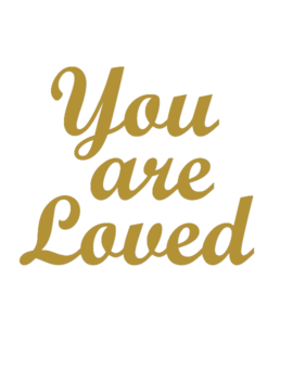 You are Loved wallstickers til 129,- med gratis gaveindpakning!